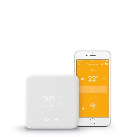 tado Smartes Thermostat Starter Kit für Wohnungen mit Raumthermostat V3 - intelligente Heizungssteuerung per Smartphone