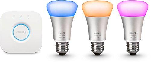 Philips Hue LED Lampe E27 Starter Set inklusive Bridge