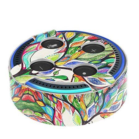 Fintie Amazon Echo Dot Hülle (nur für Echo Dot 2. Generation geeignet), Premium Kunstleder Schutzhülle Case Cover Tasche für Amazon All-New Echo Dot (2nd Generation), Liebesbaum