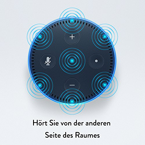 Amazon Echo Dot 2-te Generation, in schwarz, 7 Mikrofone