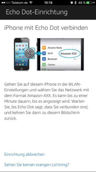 Jetzt musst du in die WLAN Einstellungen deines Smartphones wechseln.