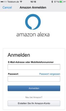 Amazon Echo Einrichtung der Alexa App