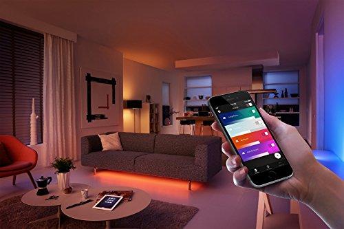 Philips Hue LED Lampe E27 Erweiterung 3. Generation, dimmbar, 16 Mio Farben, funktioniert mit Amazon Alexa