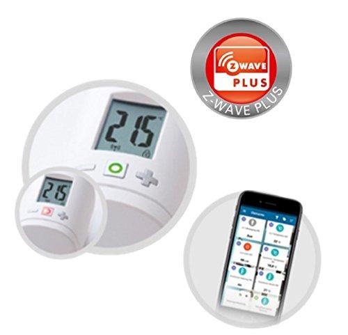 Eurotronic Z-Wave Plus Energiesparregler / intelligentes Heizthermostat - individuell programmierbar / Steuerung per App