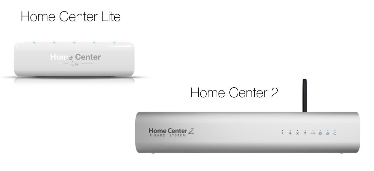 Fibaro Home Center 2 und Home Center Lite