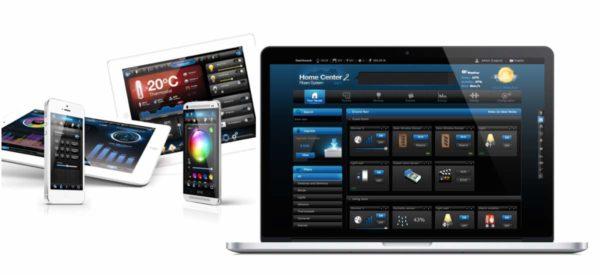 Fibaro Benutzeroberfläche (Interface) für iOS und Android Geräte