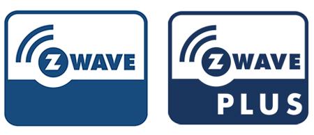 Z-Wave und Z-Wave Plus Logos im Vergleich
