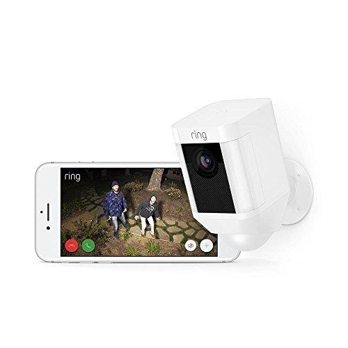 Ring Spotlight Cam Battery - HD Sicherheitskamera mit LED Licht, Sirene und Gegensprechfunktion, Batterie betrieben - Mit Alexa steuern