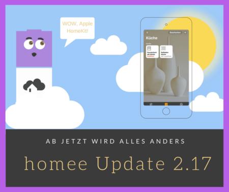 homee Update 2.17 Apple HomeKit Kompatibilität