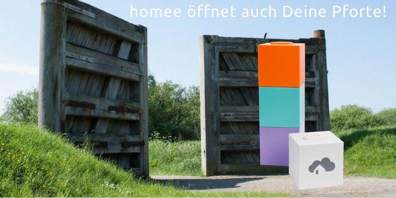homee Smart Home Zentrale öffnet auch Pforten, Garagentore u.s.w.