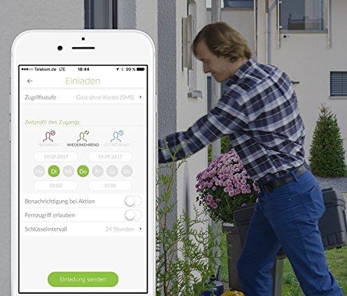 Danalock Smartlock V3 - Elektronisches Bluetooth und Z-Wave Türschloss - Automatischer Türöffner - für iPhone und Android - Smart Home