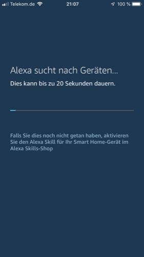 Alexa sucht vorhande Geräte