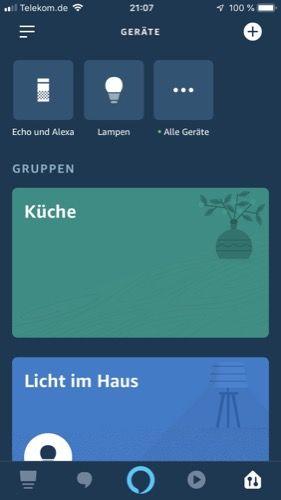 Amazon-Alexa-App-RGBW-Gartenstrahler-Test