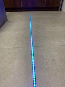 RGB+CCT LED-Lichtband im Alu-Profil, mit Milchigen Abdeckung