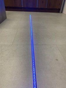 RGB+CCT LED-Lichtband im Alu-Profil ohne Abdeckung