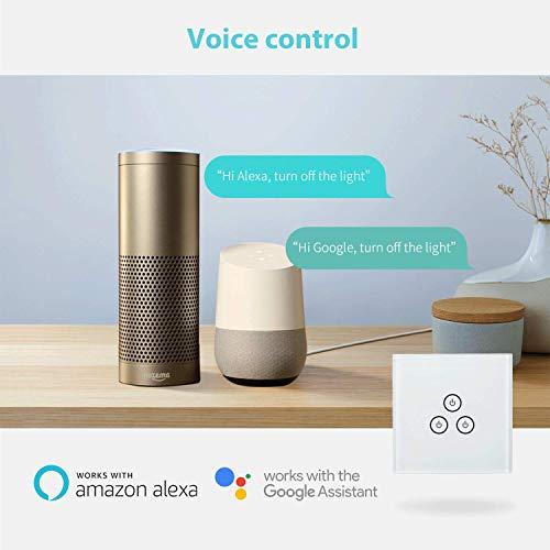 Meross smarter WLAN - Lichtschalter, Sprachsteuerung per Alexa, Google Assistant