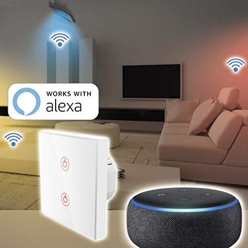hama wlan lichtschalter unterputz sh checker. Black Bedroom Furniture Sets. Home Design Ideas