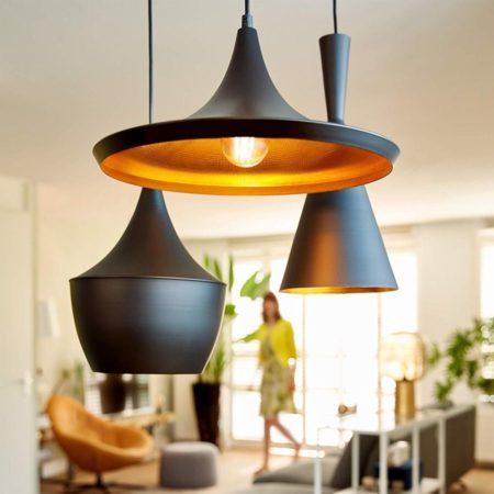 Innr Filament Lampen in einer Wohnzimmer Leuchte