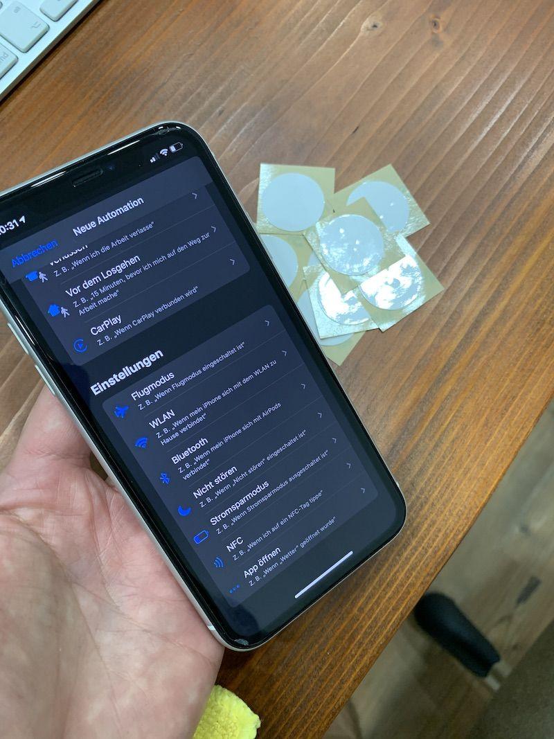 NFC-Tag am iPhone nutzen