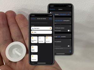 NFC-Tags mit Apple HomeKit und Kurzbefehle App nutzen