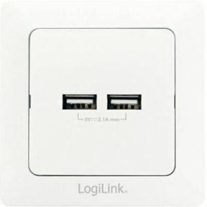 LogiLink USB-Unterputzdose, 2-fach