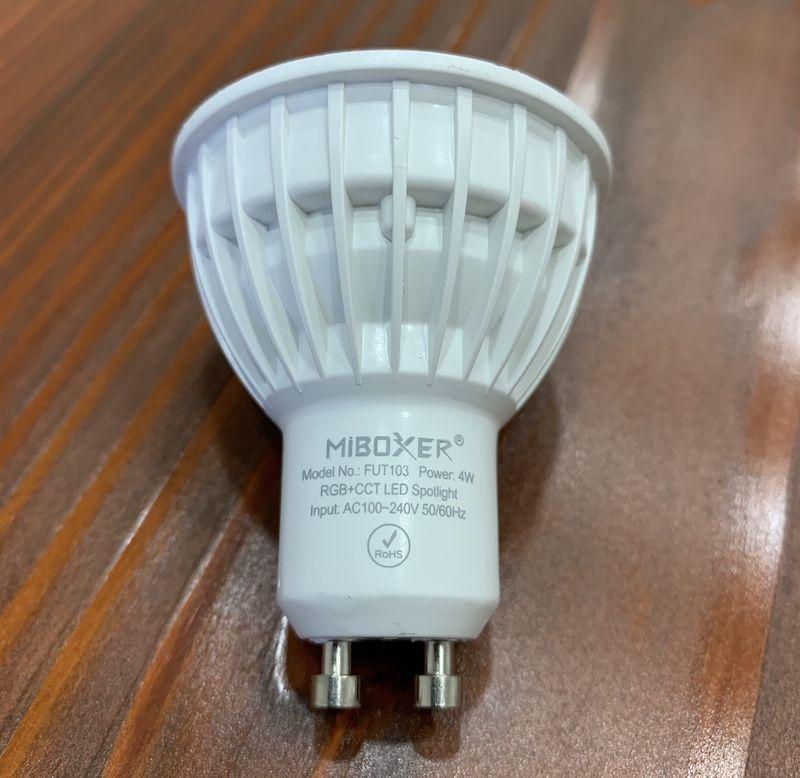 Von MiLight zu MiBoxer, als Beispiel hier die GU10 LED Spotlight 4Watt mit 280lm