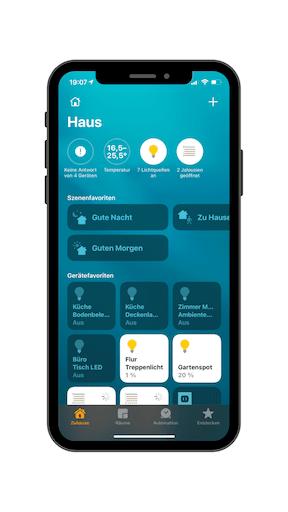Apple Home App zur Steuerung und Verwaltung deiner HomeKit Geräte