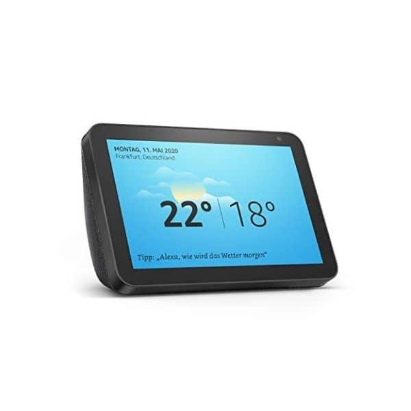 Echo Show 8 - Kann kompatible Smart Home Geräte steuern - Zeigt deine Überwachungskameras direkt im integrierten Display