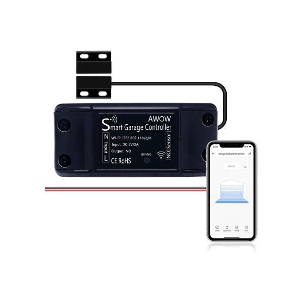 AWOW Garagentorsteuerung - smarte WLAN Steuerung für deine Garage - Funktioniert mit Alexa und Google Assistant