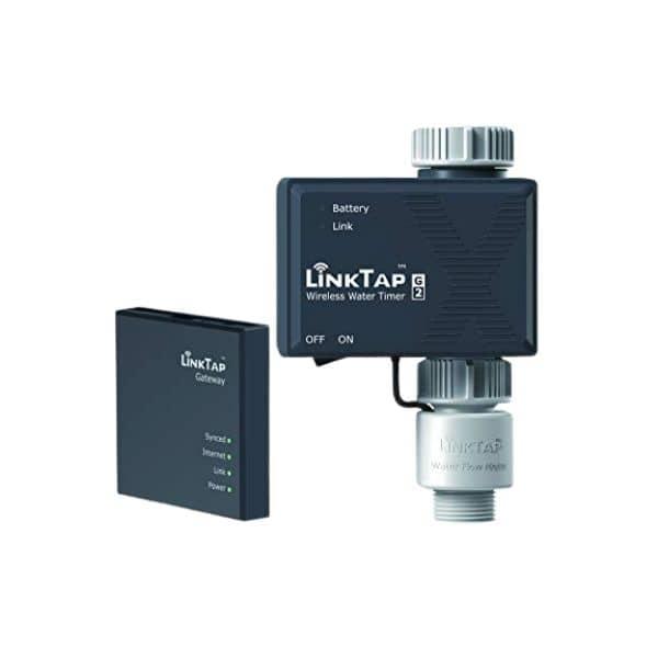 LinkTap G2 - Smarte ZigBee Gartenbewässerung - im Set mit Wasserventil und Gareway - Funktioniert mit Alexa & Google Assistant
