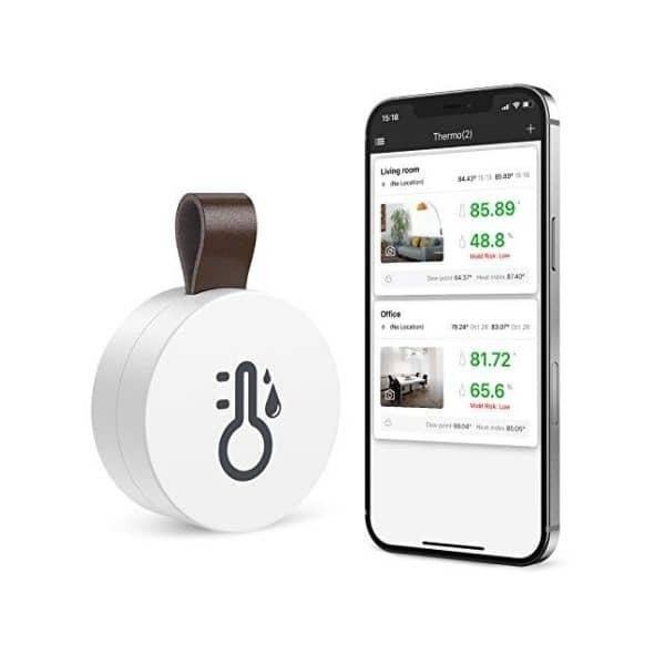ORIA Bluetooth Thermometer - Überwachung von Temperatur & Luftfeuchtigkeit - Alle Daten über die App einsehbar