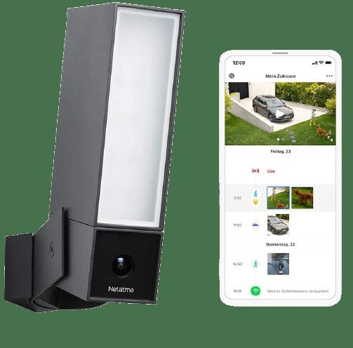 Smarte Überwachungskamera für Aussen von Netatmo - Funktioniert mit Apple HomeKit und Alexa