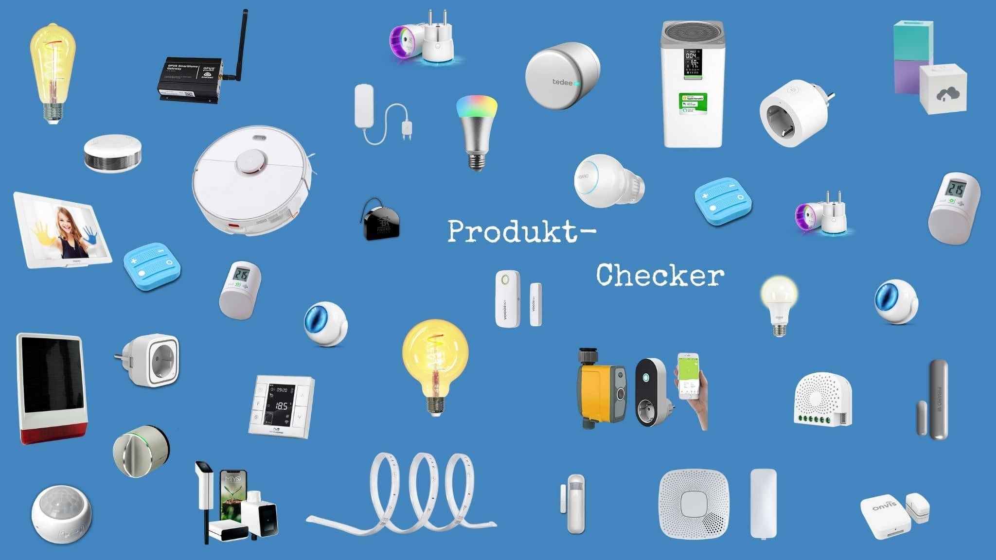 Finde kompatible Smart Home Geräte, Systeme und Gadgets bei SmartHomeChecker