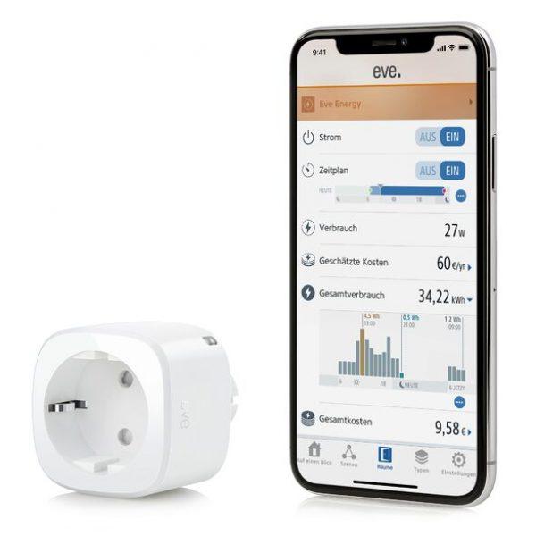eve Energy - Smarte Steckdose - HomeKit kompatibler Zwischenstecker
