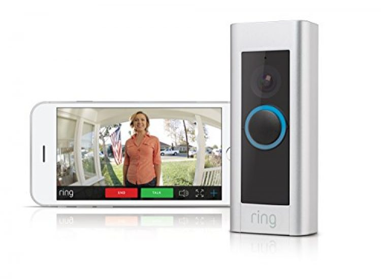 Ring Video Doorbell Pro - Video Türklingel Pro Set mit Türgong und Transformator, 1080p HD Video, Gegensprechfunktion, Bewegungsmelder, WLAN