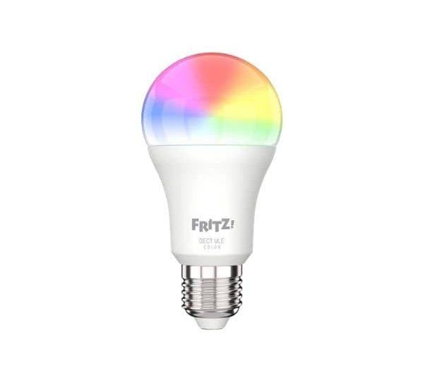 AVM FRITZ!DECT 500 - Smarte E27 LED-Lampe mit RGB Farbspektrum und 806 Lumen Lichtleistung - Für Fritz!Box