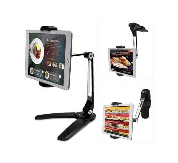 AboveTEK 2 in 1 universelle Halterung aus Aluminium für Tablets und Smartphones zwischen 4,7 & 13,5 Zoll Größen