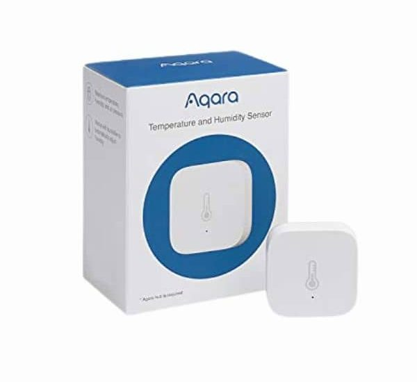 Aqara Temperatur- und Luftfeuchtigkeitssensor - Modell B07D37FKGY - Funktioniert mit HomeKit - benötigt eine ZigBee Steuerzentrale