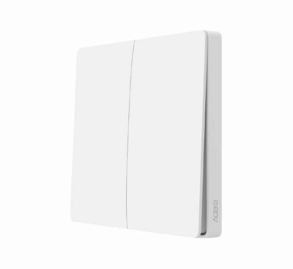 Aqara ZigBee Doppel-Lichtschalter - WXKG02LM - Funktioniert mit HomeKit - benötigt eine kompatible ZigBee Steuerzentrale