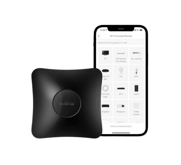 BroadLink RM4 Pro - IR und 433 MHz Universal-Fernbedienung für Infrarot und Funk Geräte - Funktioniert mit Alexa, Google Assistant & IFTTT