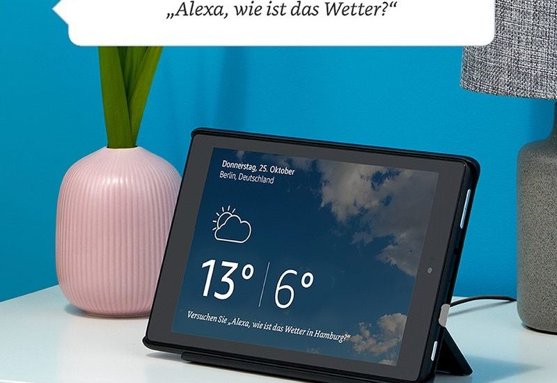 Das neue Fire HD 8 Tablet - Alexa Hands-free - Show-Dock