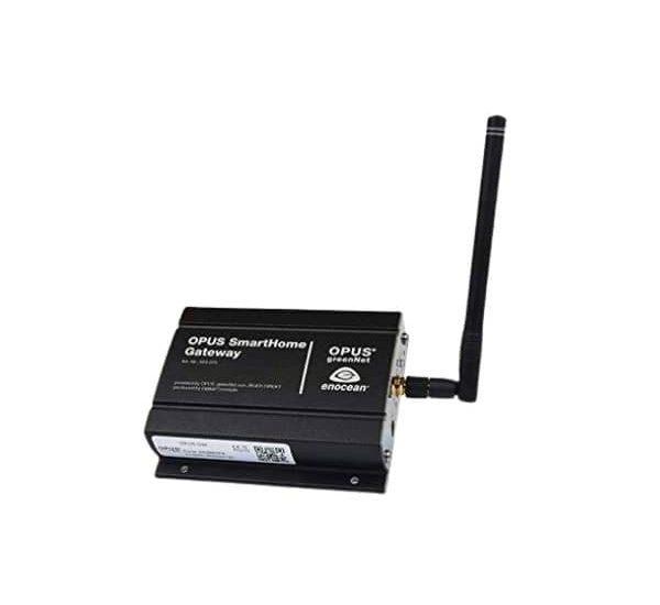 Dieses Gateway verbindet und steuert die OPUS greenNet Smart Home Geräte - Funktioniert mit HomeKit, Alexa und Google Assistant