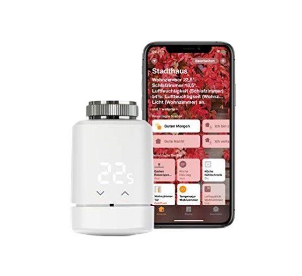 Eve Thermo - Thread Heizkörper-Thermostat - Funktioniert mit Apple HomeKit und benötigt keine Steuerzentrale