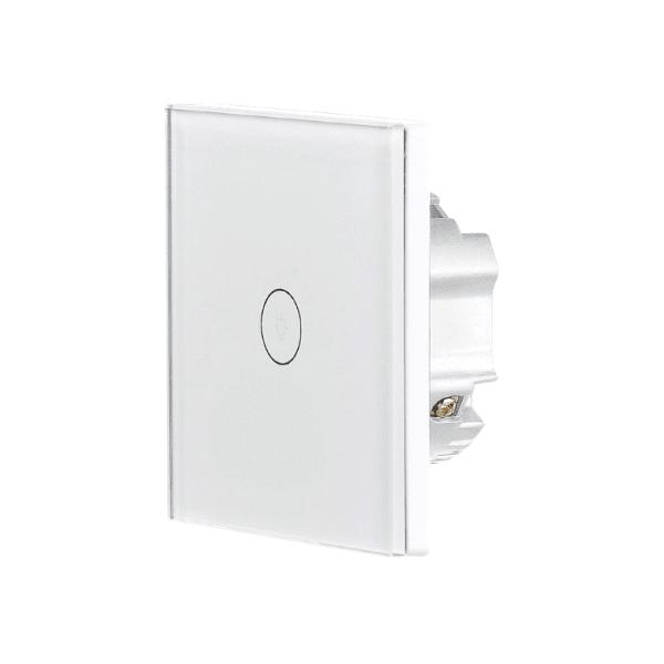 Luminea Home Control WLAN Lichtschalter - funktioniert mit Amazon Alexa, Google Assistant - verbindet sich über 2,4 GHz WLAN-Netz