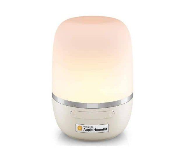 Meross WLAN LED Nachttischlampe - Funktioniert mit Apple HomeKit, Google Assistant und Amazon Alexa - WLAN 2,4 GHz