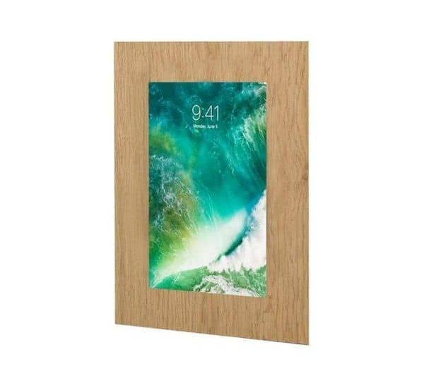 TabLines TWE057O - Wandhalterung aus Eiche für das iPad Pro mit 10,5 Zoll Display - Als Unterputz Lösung