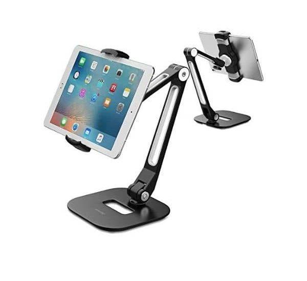 Universeller & schwenkbarer Tischständer - AboveTEK Tablet Ständer - geeignet für iPad, Android Tablets und Smartphones bis 11 Zoll