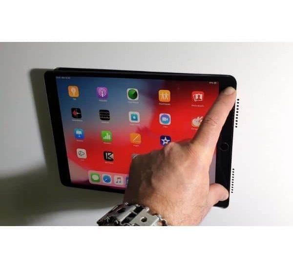 Wall-Smart Invisible Mount - iPad Wandhalterung - magnetisch, POE zu USB Converter enthalten, flächenbündiger Einbau