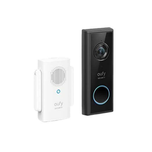 eufy Video-Türklingel Slim - Diese Videotürklingel von eufy wird mit einem Akku betrieben und weist eine Auflösung von 1080p auf
