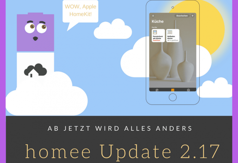 homee Update 2.17 Apple HomeKit Kompatibilität